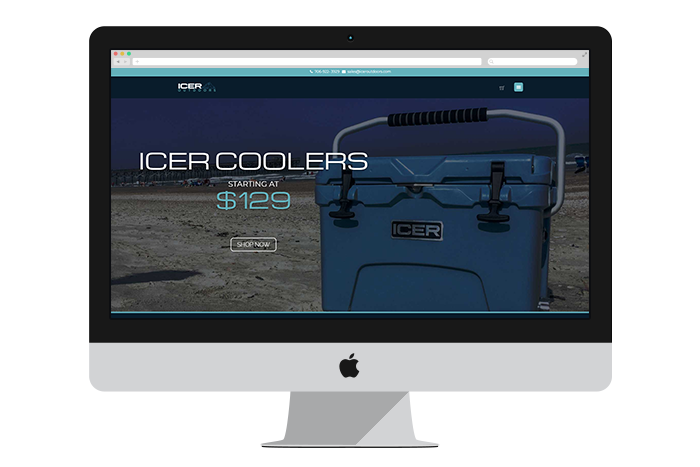 Icer Coolers Evans Web Design